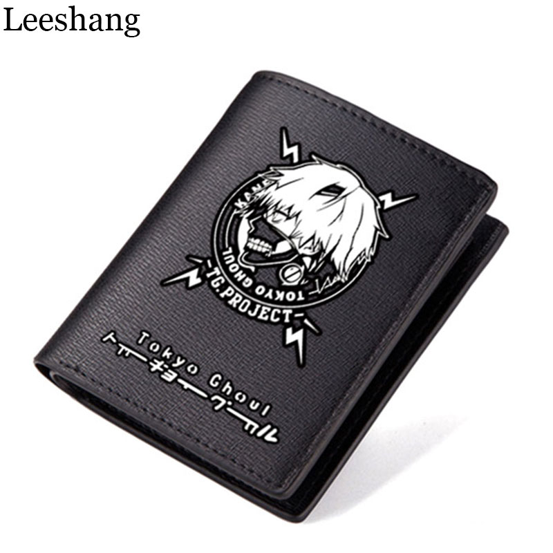 Leeshang 2017 Nwe Wallet Men and Women Tokyo Ghoul Cartoon PU Leather Short Student Teenager Wallets Card Holder