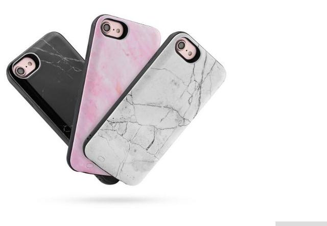 size 40 a3d77 23538 US $24.99 |2018 Marble Battery Charger Case for iPhone 6/7/8  3000mAh/6000mAh External Battery Power Bank Charger for iPhone 6/7plus-in  Battery Charger ...
