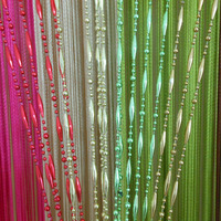 11 Colors New Dew Drop Beaded Fly Insect Panel Room Divider Hanging String Door Curtain Strip