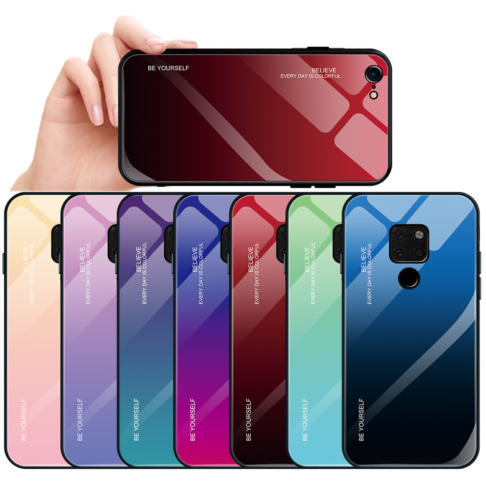 codice promozionale bd96f 25dfe Gradient Color Phone Case Cover For Huawei P20 Pro Mate P20 Lite ...