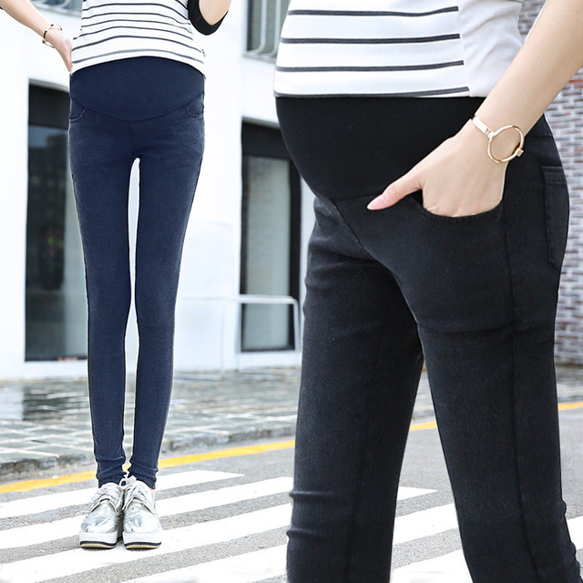 MamaLove High Waist Maternity Clothes Maternity Pants Capris Casual pregnancy Jeans For Pregnant Women Pants Maternity Clothing