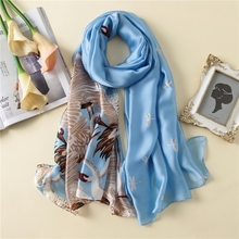LARRIVED New Design Luxury Brand Solid silk Summer Scarf Gradient Dip dye Women Muslim Hijab Shawl Long Soft Wrap