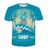 Camiseta linda de Pokemon con estampado 3D para hombres y mujeres, camisetas de Hip Hop de moda, camisetas de dibujos animados, camiseta para Hombre 5XL dropship
