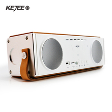 Kejee 2017 nuevo de madera portátil de altavoces 10 w * 2 bajo pesado bluetooth wireless hifi calidad de sonido al aire libre envío gratis(China (Mainland))