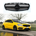 For Benz A45 AMG style ABS Gloss Black Front Grille for Mercedes W176 A200 A180 A260 A45 2013 2014 2015