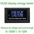 HD pantalla OLED 100 V DC Voltímetro monitor de tester Medidores de Corriente Cargador amperímetro de tensión de alimentación de la batería de detección de la capacidad