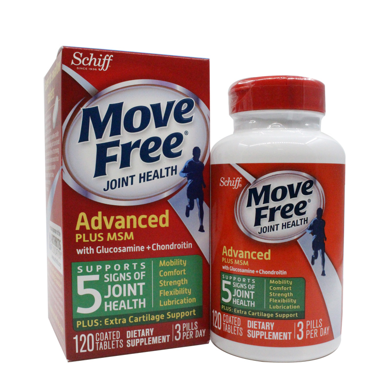 Move Free Glucosamine Chondroitin Msm And Hyaluronic Acid Joint Supplement, 120 Pcs