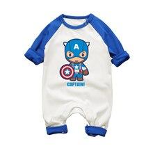 Детские Комбинезоны для малышек Супер Герои Человек-паук Халк для маленьких мальчиков девочек комбинезоны Infantil Одежда для малышей Одежда для новорожденных мальчиков и девочек Комбинезон