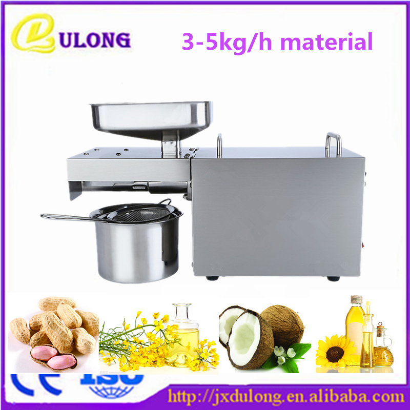 NEW Automatic Stainless Steel Small Home Oil Press Machine Cold Hot Press for Peanut,Coconut,Sunflower,Linseed