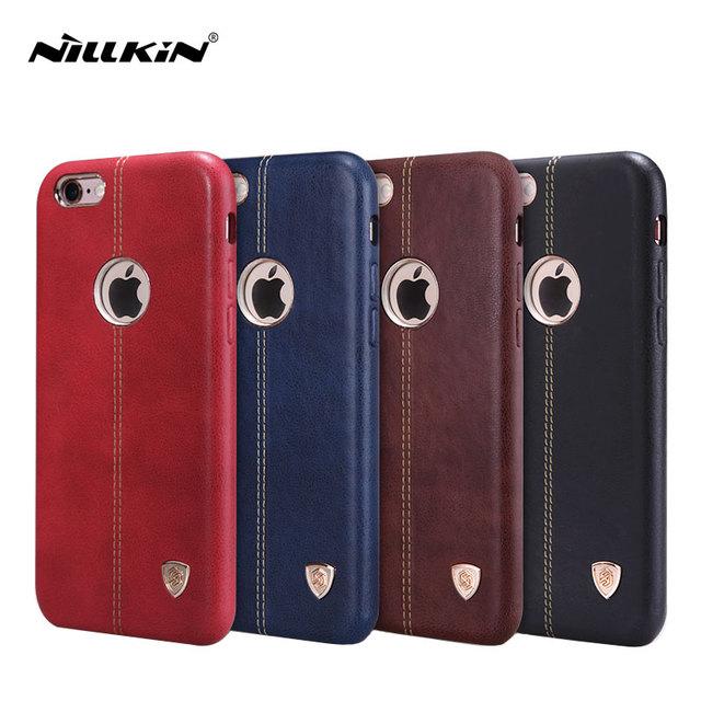 Original nillkin casos de couro para iphone 6 6 s 7 7 englon além de cobertura de luxo para o iphone 6 s plus protectve case para iphone