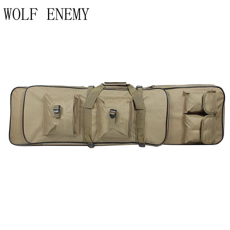 100cm 40 «дюймдік қалта SWAT Dual Tactical Үлкен сыйымдылығы тасымалдайтын сөмкелер Airsoft AEG Gun Army Green Black