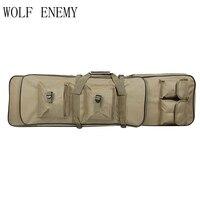 Precio 100 cm 40 pulgadas doble bolsillos SWAT doble táctico de gran capacidad bolsas de transporte para Rifle Airsoft AEG Gun ejército verde y negro