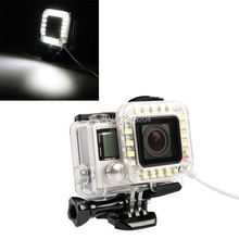 Action Camera Flash with LED Light New design USB Lens Ring LED Flash Light for GoPro HERO4 / 3+ Sports Camera
