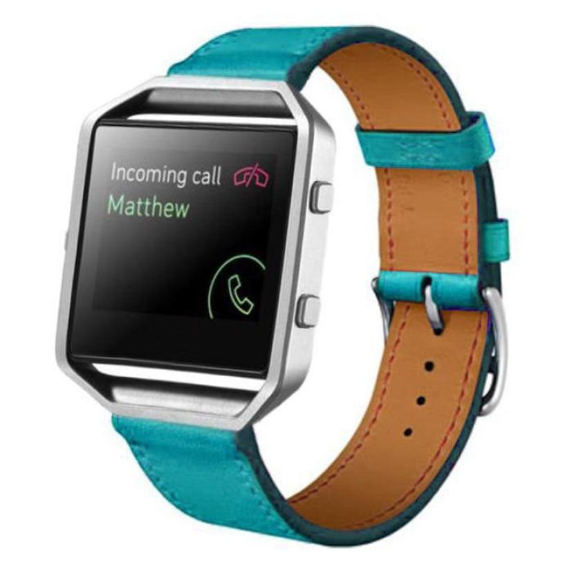 Fabulous Luxury Genuine Leather Watch band Wrist strap For Fitbit Blaze Smart Watch wholesale No25 superior nylon watch band wrist strap steel metal frame for fitbit blaze smart watch dec 12