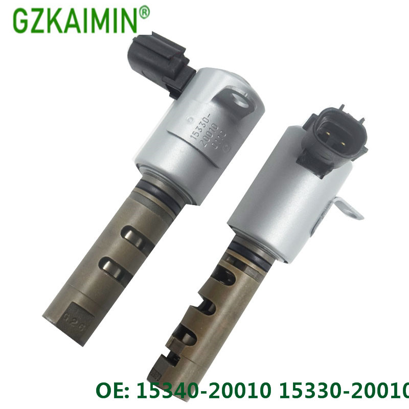 Set Of 2 Camshaft Timing Oil Control Valve VVT Solenoid 15340-20010 15330-20010 For TOYOTA For LEXUS 99-10 3.0L /3.3L DOHC .