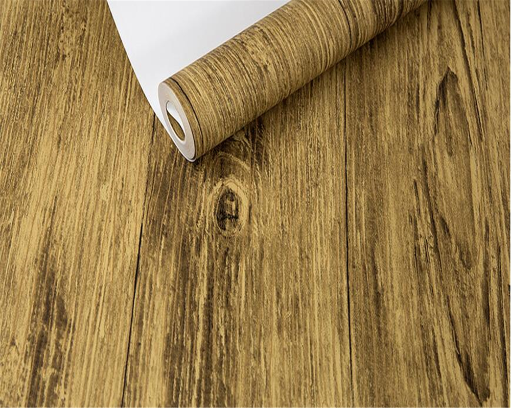 Beibehang Nordic retro imitation wood grain non - woven wallpaper student dormitory TV background wall 3d wallpapers roll photo
