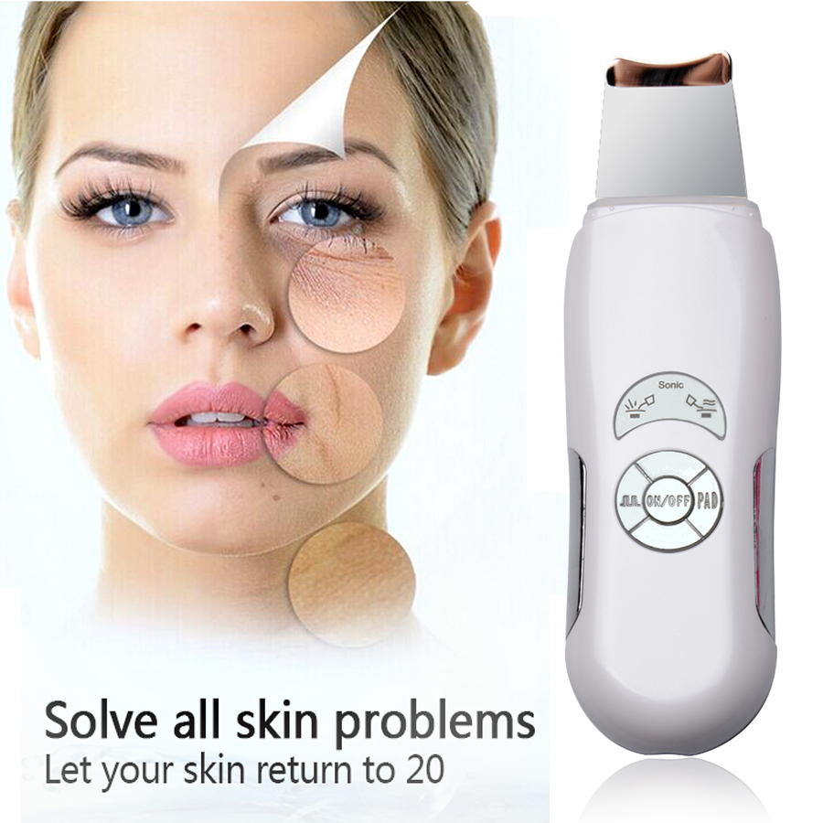 Komwell Deeply ultrasonic face skin clean device blackhead removal Device shovel machine face exfoliator deeply clean the skin peeling shovel exfoliator machine ultrasonic wave face skin scrubber blackhead acne removal facial cleaning vibration massager