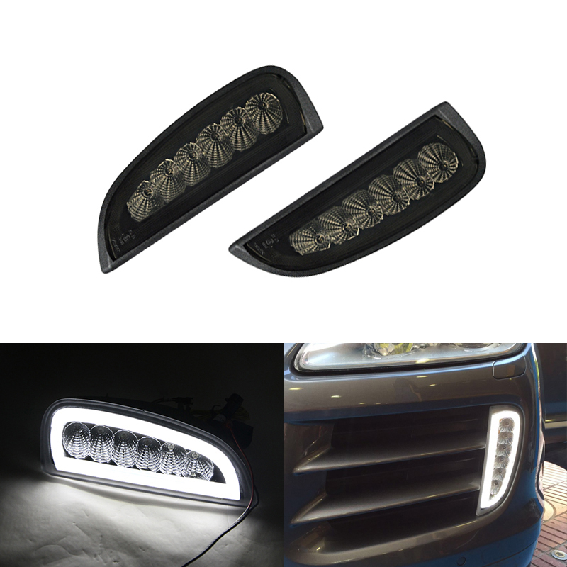 2x Switchback Led DRL Daytime Running Lights W Amber Turn Signal For Porsche Cayenne 957 2007