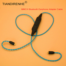 كابل بلوتوث MMCX ذاتي الصنع لـ Shure SE215 SE315 SE535 SE846 UE900 محول سماعة الأذن مع أسلاك خط الميكروفون