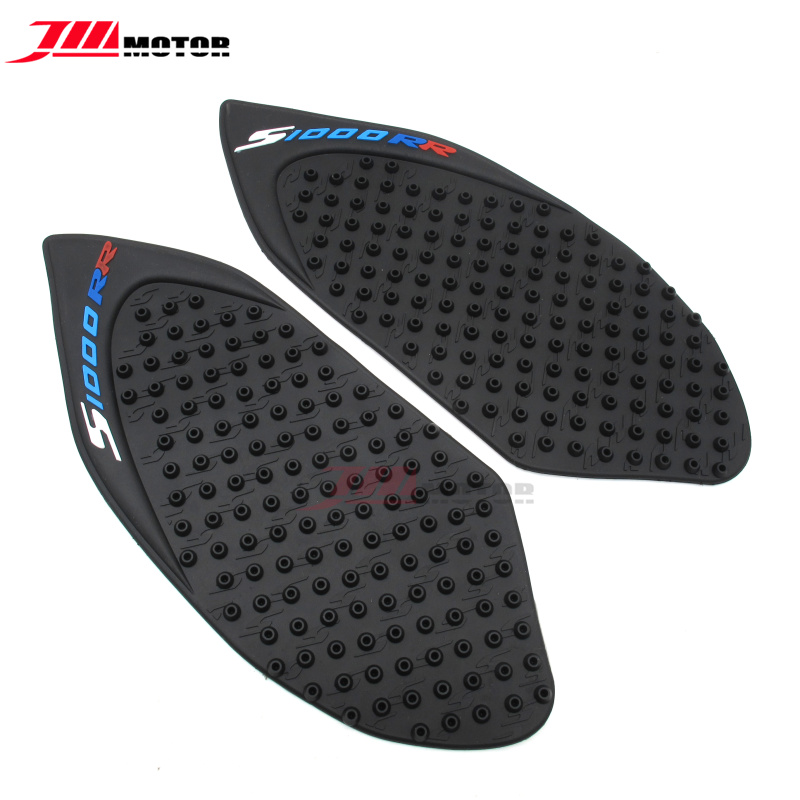 Motorcycle/Black Tank Traction Side Pad Gas Fuel Knee Grip Decal Protector fits BMW S1000RR 2010-2016