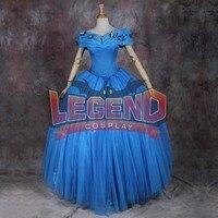 Cinderella Princess Dress Costume Adult Cinderella blue Wedding Dress Gown