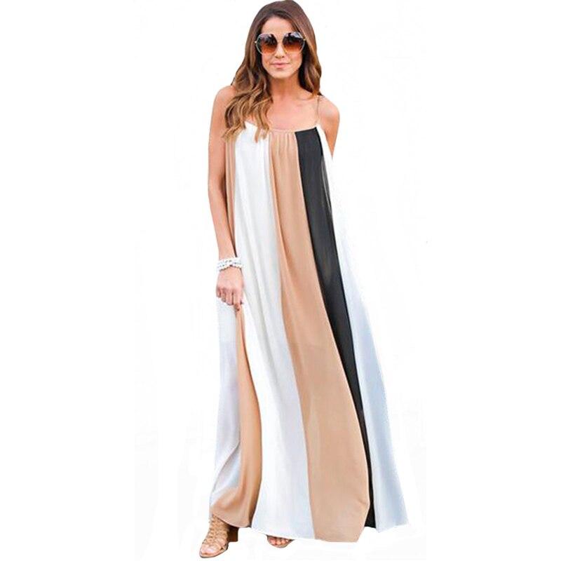 Yjsfg casa casual mujeres sin mangas de la vendimia de boho beach dress 2017 ver
