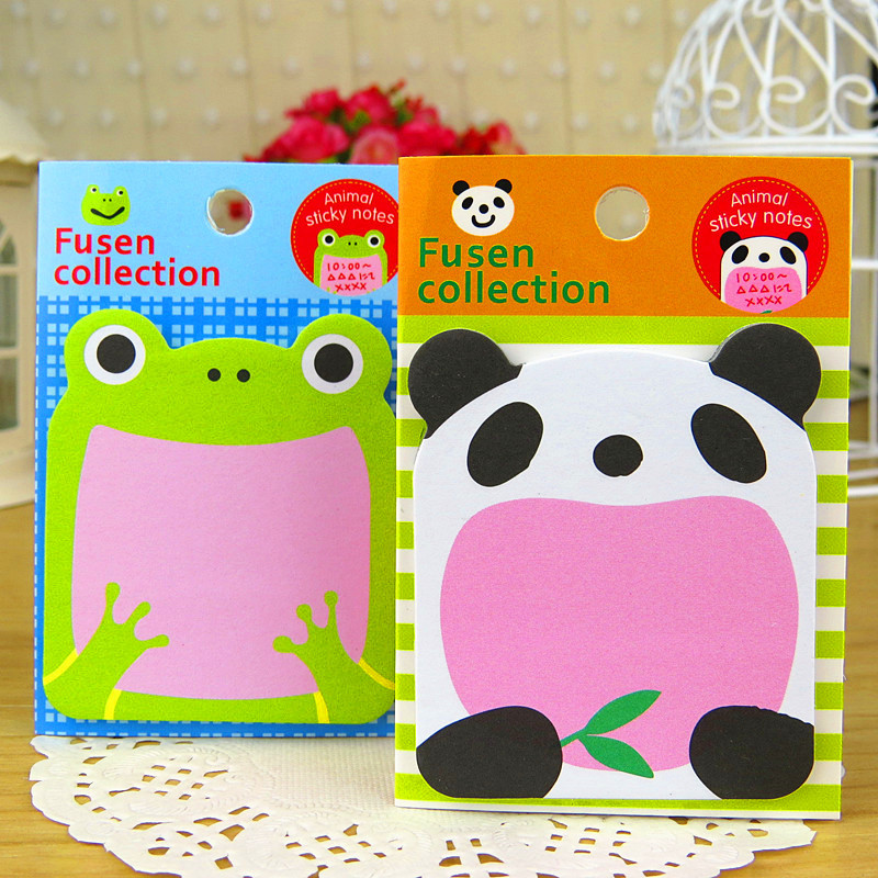 Animal Frog Bird Panda Cute Kawaii Sticky Notes Post Memo Pad School Supplies Planner Stickers Paper Bookmarks Korean Stationery