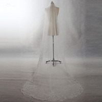 RSV50 Yiaibridal Elegant Hem Embroidery Edge With Comb Soft Tulle One Layer Bridal Veil