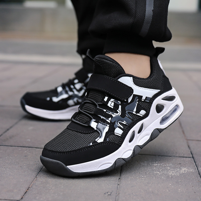 Summer Breathable Mesh Kids Shoes Soft Non-slip Light Boys Shoes Fashion Magic Post Casual Sneakers for Boys Size 28-38