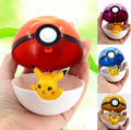 Trainer Pokeball  Love Park Ball Masterball Pokeballs GS Ultra Dive Poke Ball Toy 7CM, with Pikachu