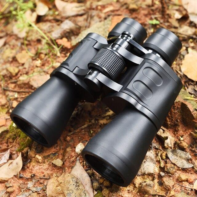 Binoculares prismáticos profesionales Hd, telescopio potente 20x50, visión nocturna, Lll, Prisma BAK4, para acampar, cazar, Concierto