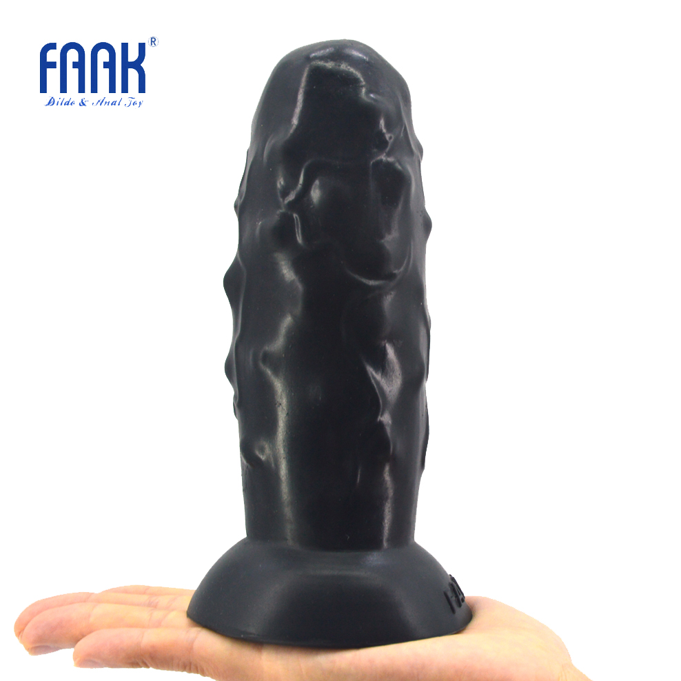 FAAK huge sex toys for anal sex butt plug with suction cup silicone flexible unsmooth surface anal dildo women man masturbator sex shop soft silicone huge realistic dildo with suction cup male artificial anal butt plug dick masturbator sex toys for women
