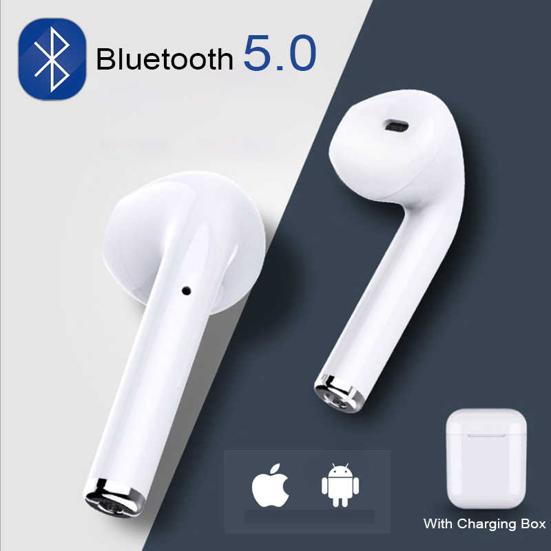 I7s Tws Mini Nirkabel Bluetooth Earphone Stereo Earbud Headset Headphone MIC untuk iPhone Xiaomi Semua Smart Phone I10 I12
