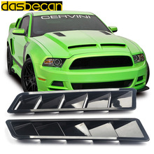 Dasbecan 1 Pair ABS Hood Vent For Mustang Universal Car Air Intake Panel Auto Parts vent louver Cooling