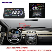 Liandlee Car Head Up Display HUD For Mercedes Benz R-Class W251 2015-2018 Projector Screen OBD Mileage Fuel Consumption Detector