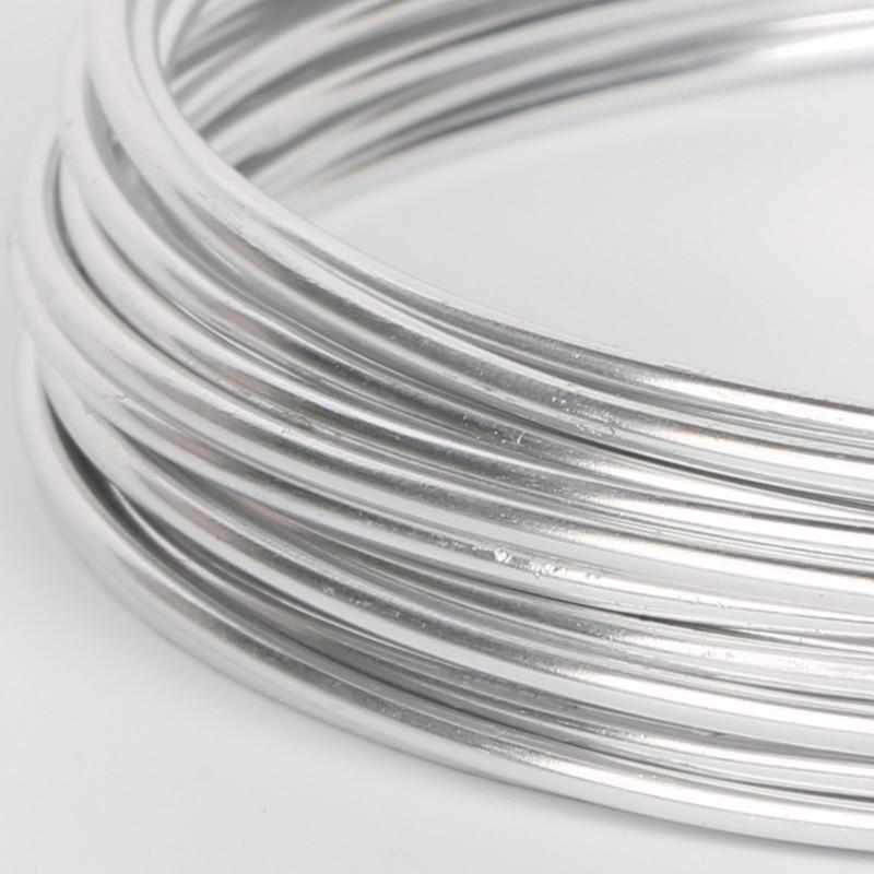 5 м/рулон, алюминиевая проволока для украшений «сделай сам», 2 мм, 12 цветов