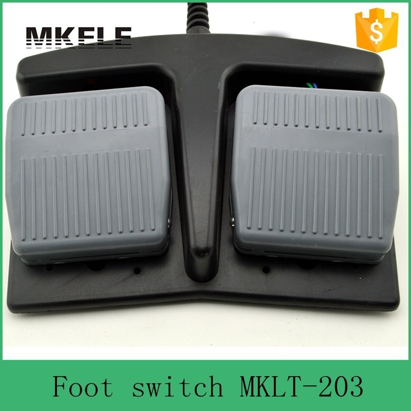 MKLT-203 free shipping CE factory direct price hot sale high efficiency double pedal tattoo machine foot switch from China hot sale lt4 202h factory price cheap ce newest latest metal double pedal foot switch for bending machine punch