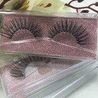 Top quality Private label 20 pairs 3D strip lash russian volume false fake eyelash extensions Korea synthetic fiber lashes