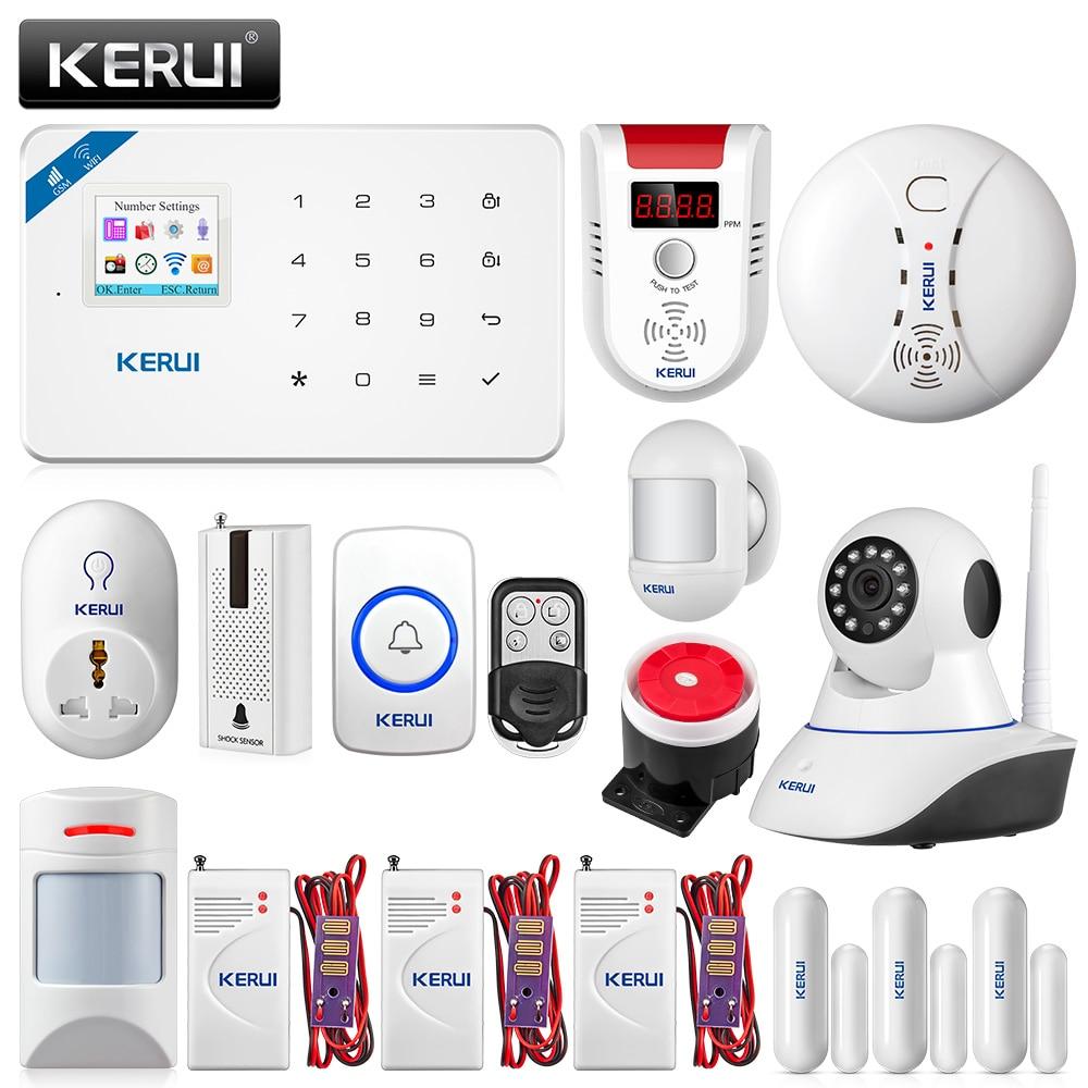 KERUI W18 WI-FI GSM охранной сигнализации Системы приложение Управление дома движения PIR противопожарной защиты с 720 P WI-FI IP Камера