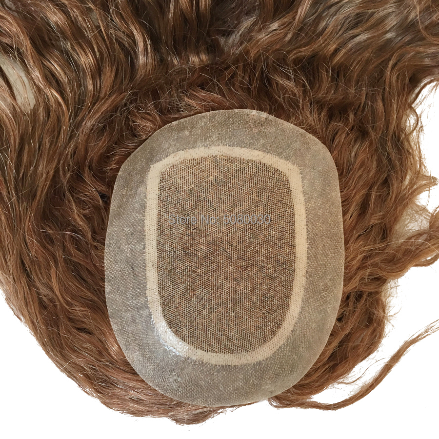 Senior Goods Top Silk And Around PU Injected Silk Knot Men Toupee Women Wig Free Shipping Fedex DHL