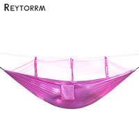 Outdoor Anti Insect Net Hammock Mosquito Net For Backpacking Camping Leisure Sleeping With With Two Carabiners