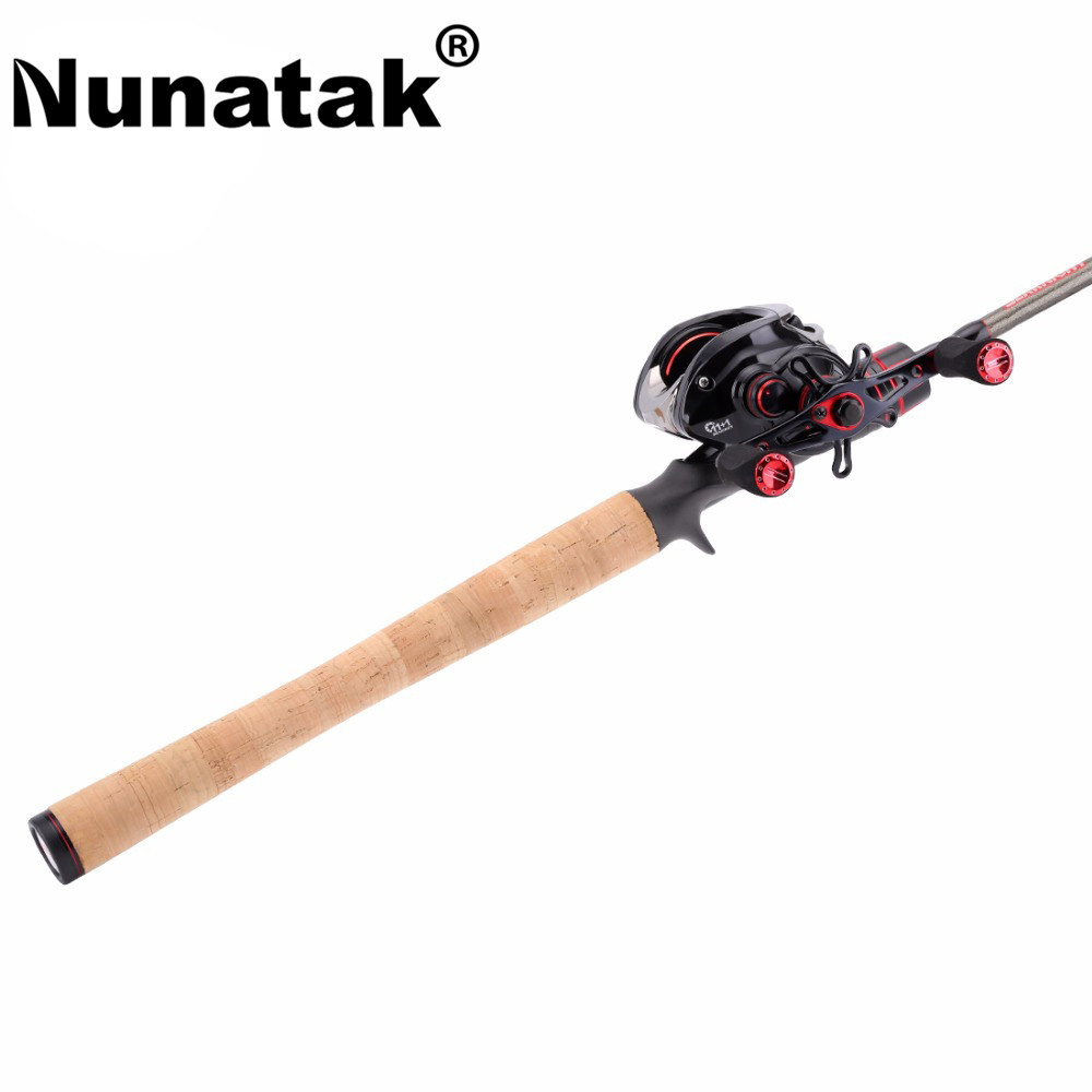 Nunatak Combo Bait Casting Reel VIPER 11 + BB Fishing Gear + LEC Casting Rod 2.1 M / 2.4 M Fishing Rod Lure Weight 1 / 4-3 / 4 o nunatak combo bait casting reel viper 11 bb fishing gear lec casting rod 2 1 m 2 4 m fishing rod lure weight 1 4 3 4 o