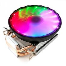 3 Pin RGB LED Fan CPU Cooler Radiator Heatsink Silent 4 Copper Heat Pipe PC Gamer 12V For Intel LGA 1150/1151/1155/1156/1366 AMD 4 heatpipe cpu cooler heat sink for intel lga 1150 1151 1155 775 1156 new