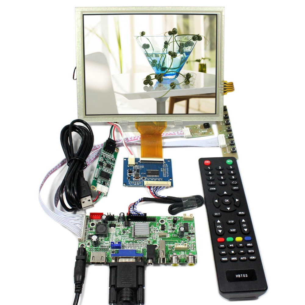 HDMI+VGA+AV+Audio+USB LCD Controller Board 8inch 800x600 EJ080NA-05A Touch LCD Screen tv hdmi vga av usb audio lcd controller board 10 1b101aw06 1024x600 lcd screen