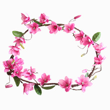 Artificial Flower 1.8M Magnolia Vine Rose Rattan For Home Decoration Wedding Party Plant Wall Accessories Simulation
