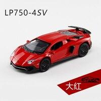 Luxury Cars LP750 4SV Alloy Static Model 1 32 Metal Sports Car Supercar Pull Back Light