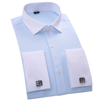 French cuff links nail sleeve slim easy care Shirts