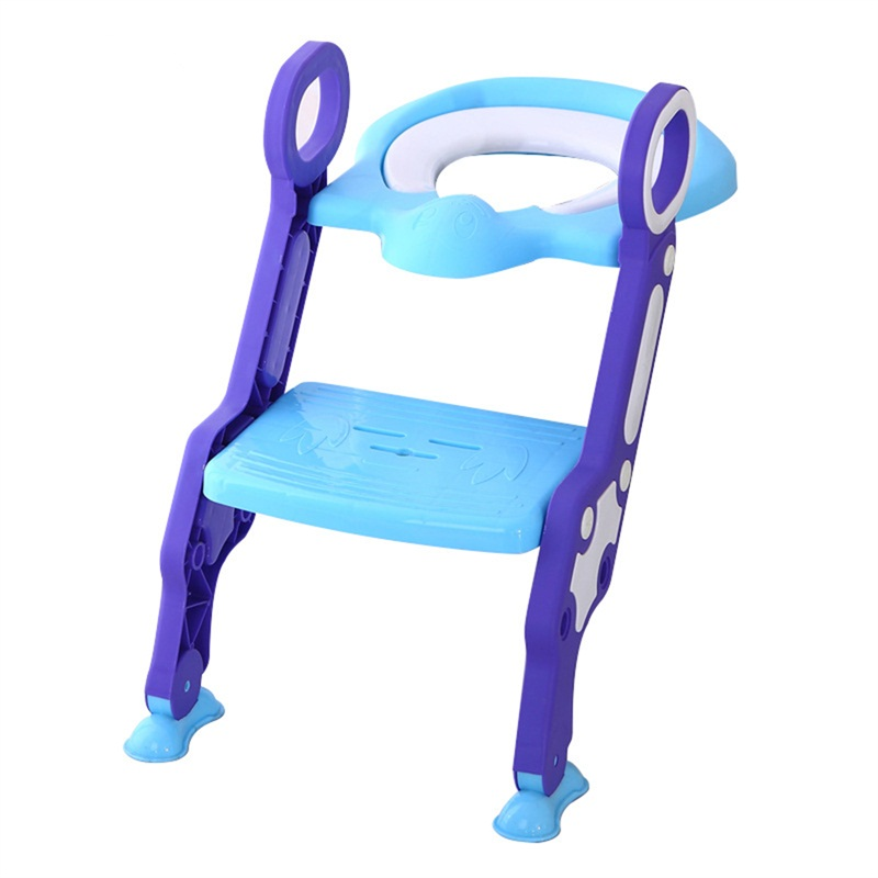 Infant Potty Chair Training Portable Safety Baby Step Ladder Folding Toilet Step Chair for Children Non-Slip Baby Step Ladder marine boat folding ladder pontoon transom boarding ladder 3 step narrow type stainless