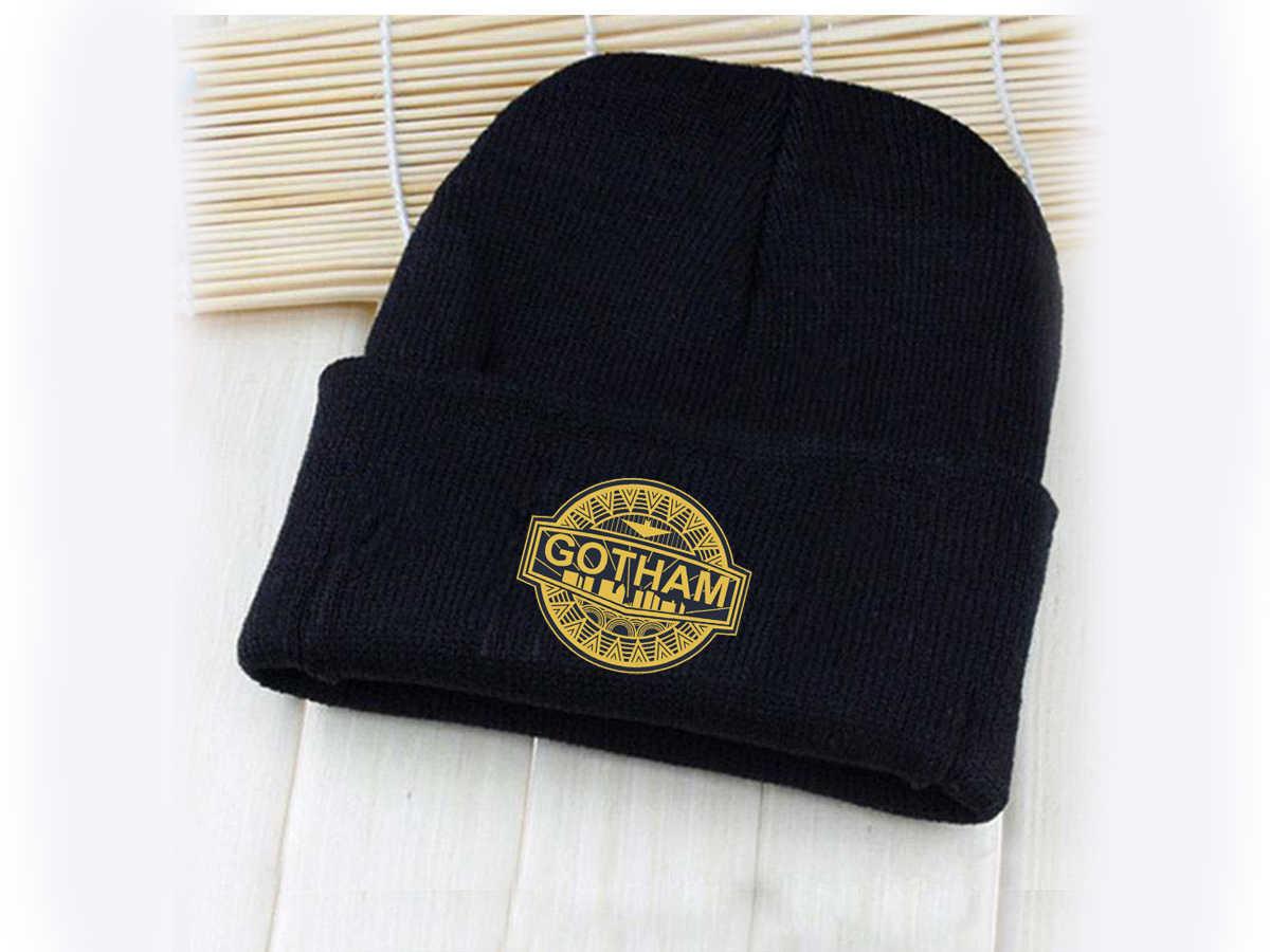 57d05a5b9 Giancomics DC Cartoon Gotham City Badge Logo Beanie Knitted Cotton Hat Cap  Cosplay Costume Unisex Fashion Cool Gifts
