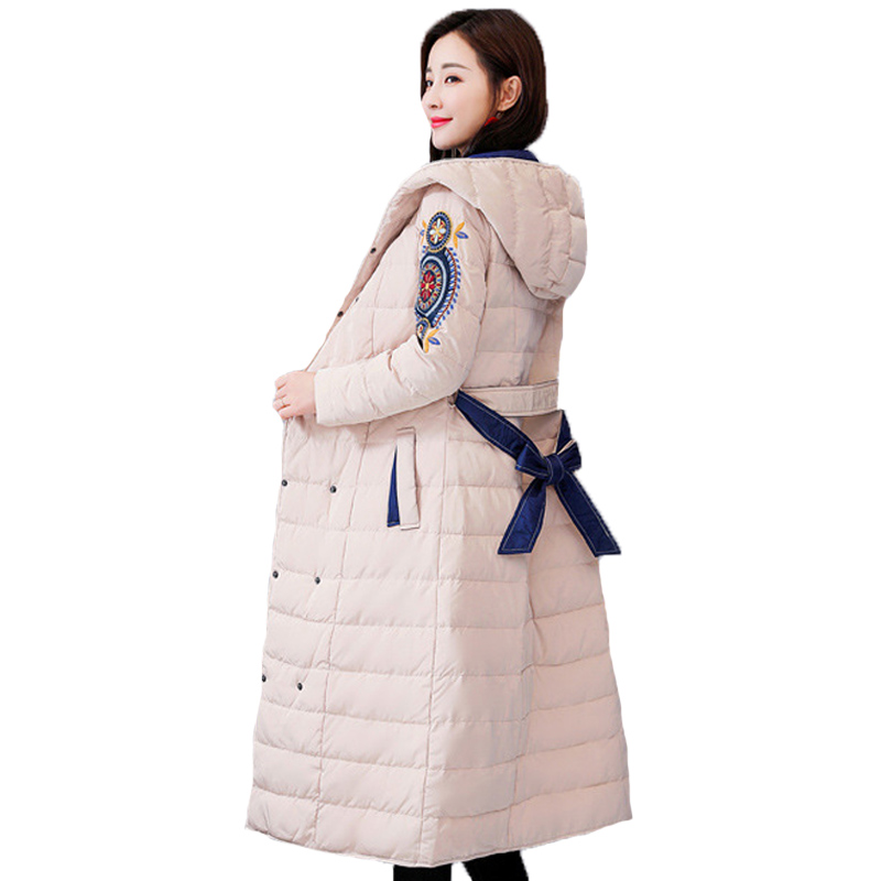 d670e983eddc Ukraine 2019 Elegant Double Breasted Vintage Long Sleeve Cotton Padded  Clothes Warm Winter Coat Women Down